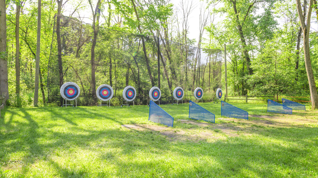 Archery field and targets