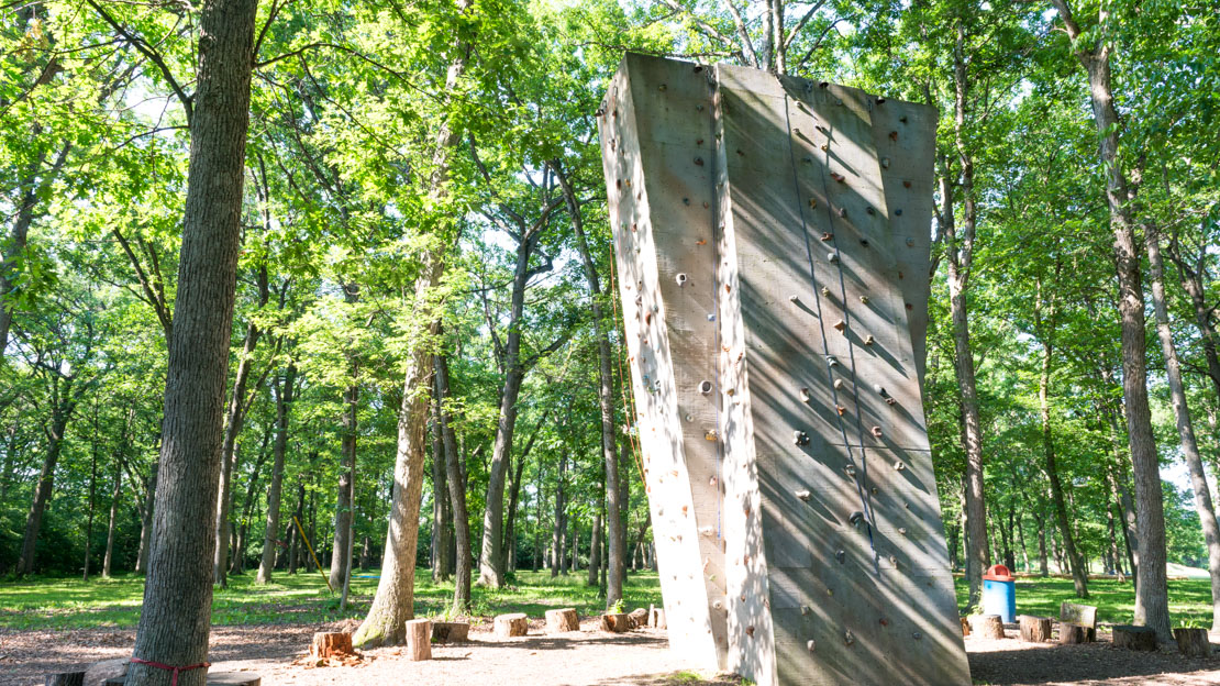 Rock climbing tower