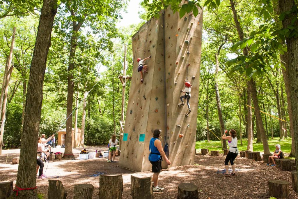 The outdoor rock wall